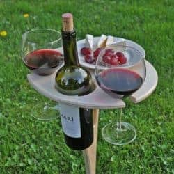 thoughtful 50th wedding anniversary gifts - Personalized Wine Folding Table