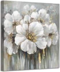 Flower Print On Canvass Artwork