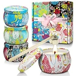 4 Pack Scented Candles Gift Set