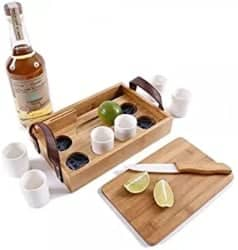 Eco-Friendly Bamboo Tequila Tasting Set