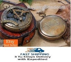 Engraved Antique Compass (1)