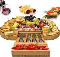 Large Cheese Board and Knife Set (1)