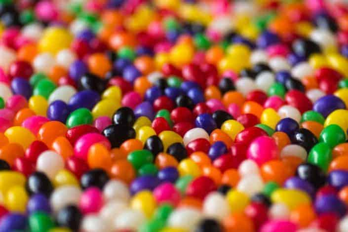Colorful jellybean candies