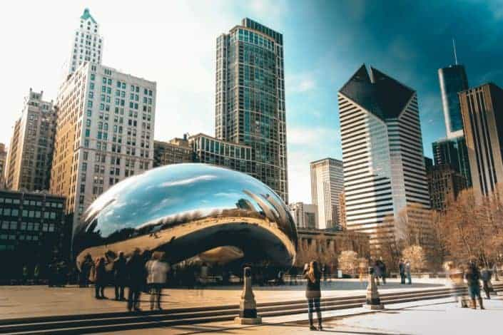 What is the name of the bean sculpture in Chicago?.jpg