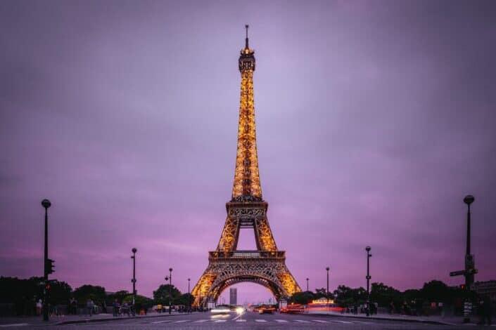 Eifel Tower during night time