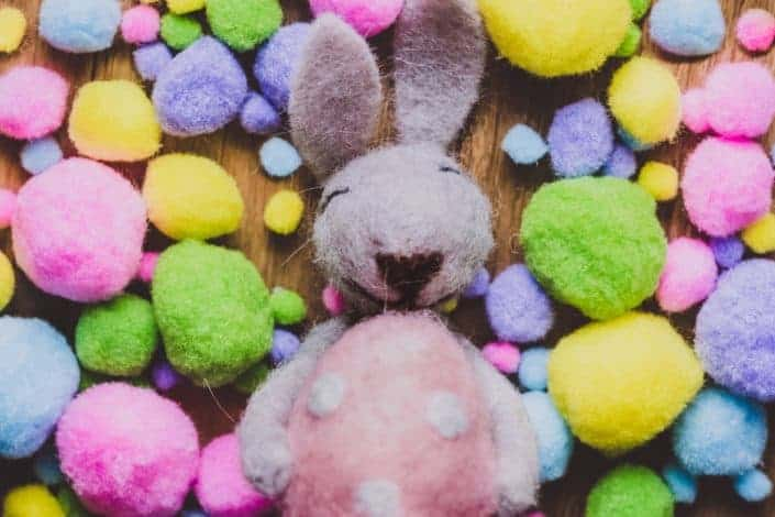Which two colors are commonly associated with Easter? Purple and yellow.jpg