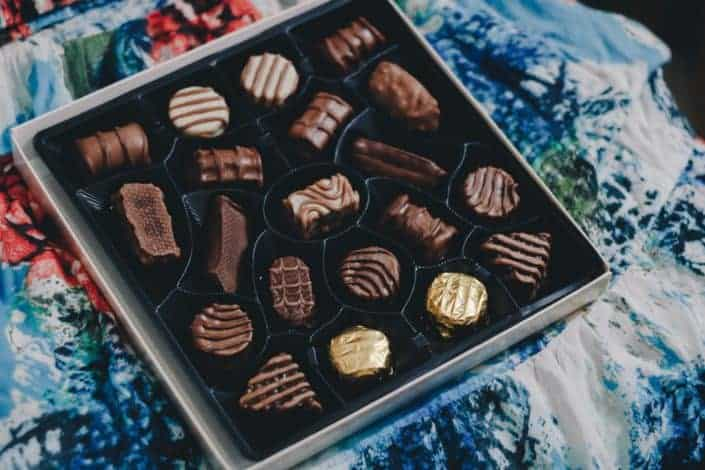 First Valentine's Day box of chocolates