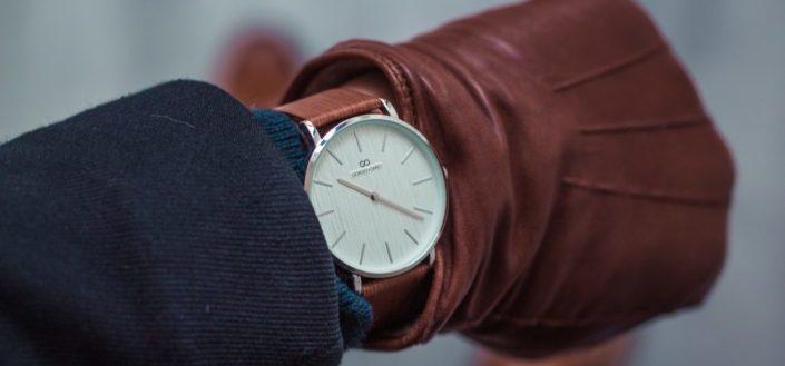 Hand with wristwatch