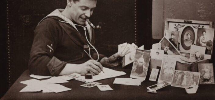 A sailor writing
