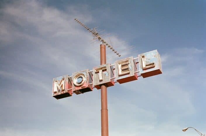 Motel signage.