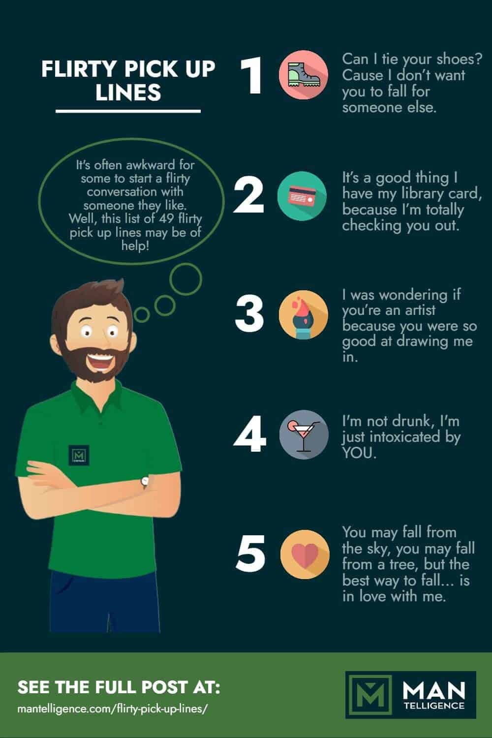 Flirty Pick Up Lines - infographic