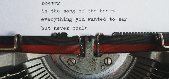 a paper on a typewriter