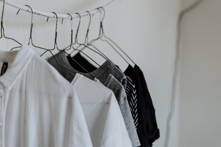 shirts in a clothesline