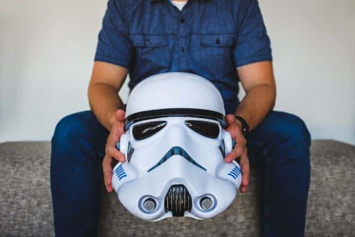 Cool white Darth Vader mask