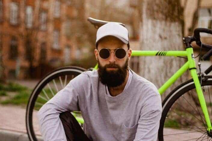Man Sitting Near Bike