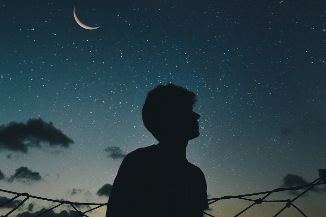 Silhouette Of Man During Nighttime - space trivia