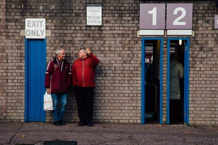 Two old men talking