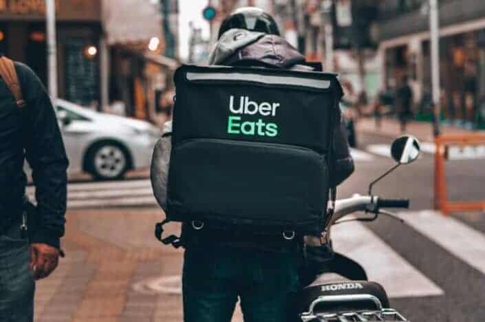 Uber Eats rider in Hiroshima city