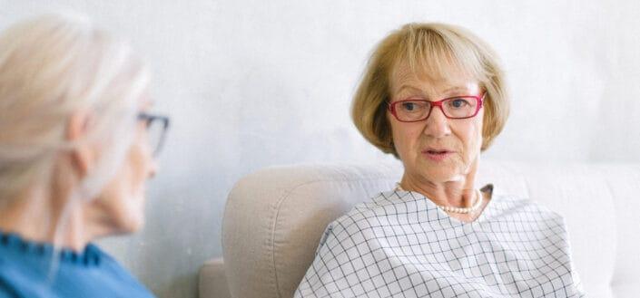 old women talking