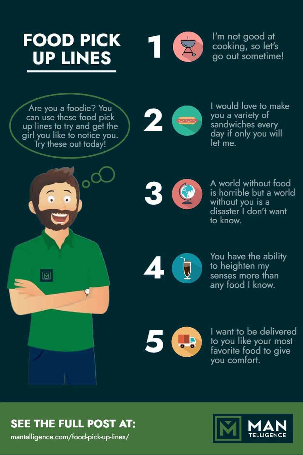 Food Pick Up Lines - infographic