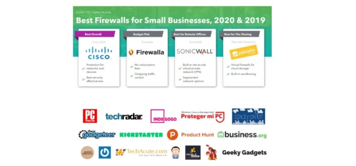 list of best firewalls for small business