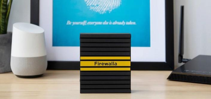 Firewalla on a table