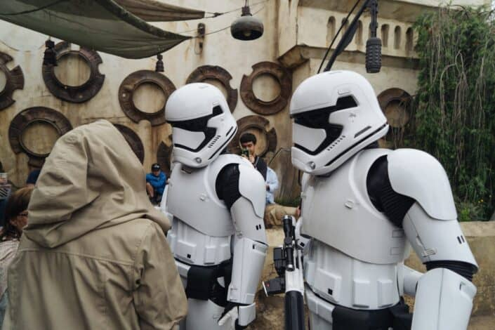 Storm Troopers at Star Wars: Galaxy's Edge