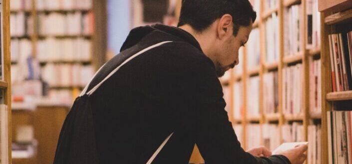 A man reading