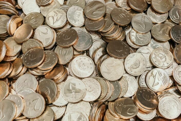 a bunch of coins