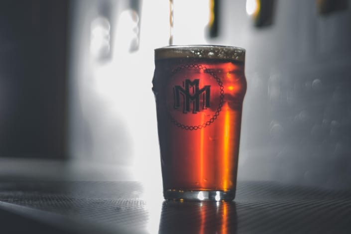 beer in a nonic pint