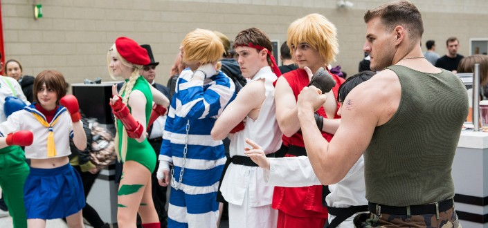 street fighter cosplayers