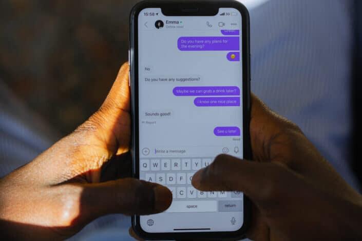 a text conversation on an iphone