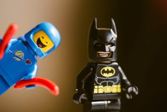 lego man and lego batman