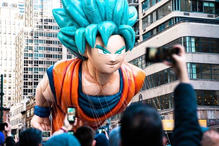San Goku balloon in the city
