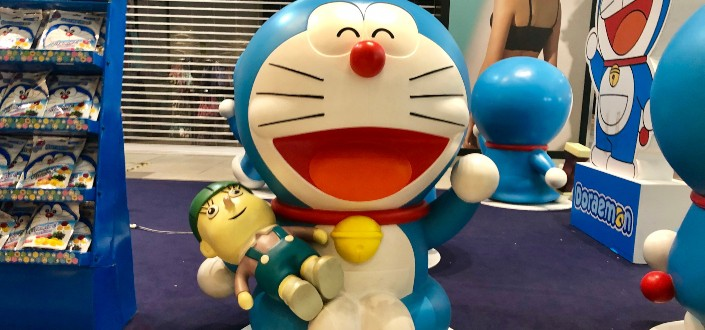 Variety of Doraemon merchandises sold in Doraemon store