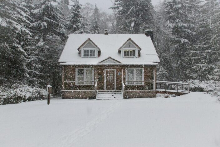 A house during winter.