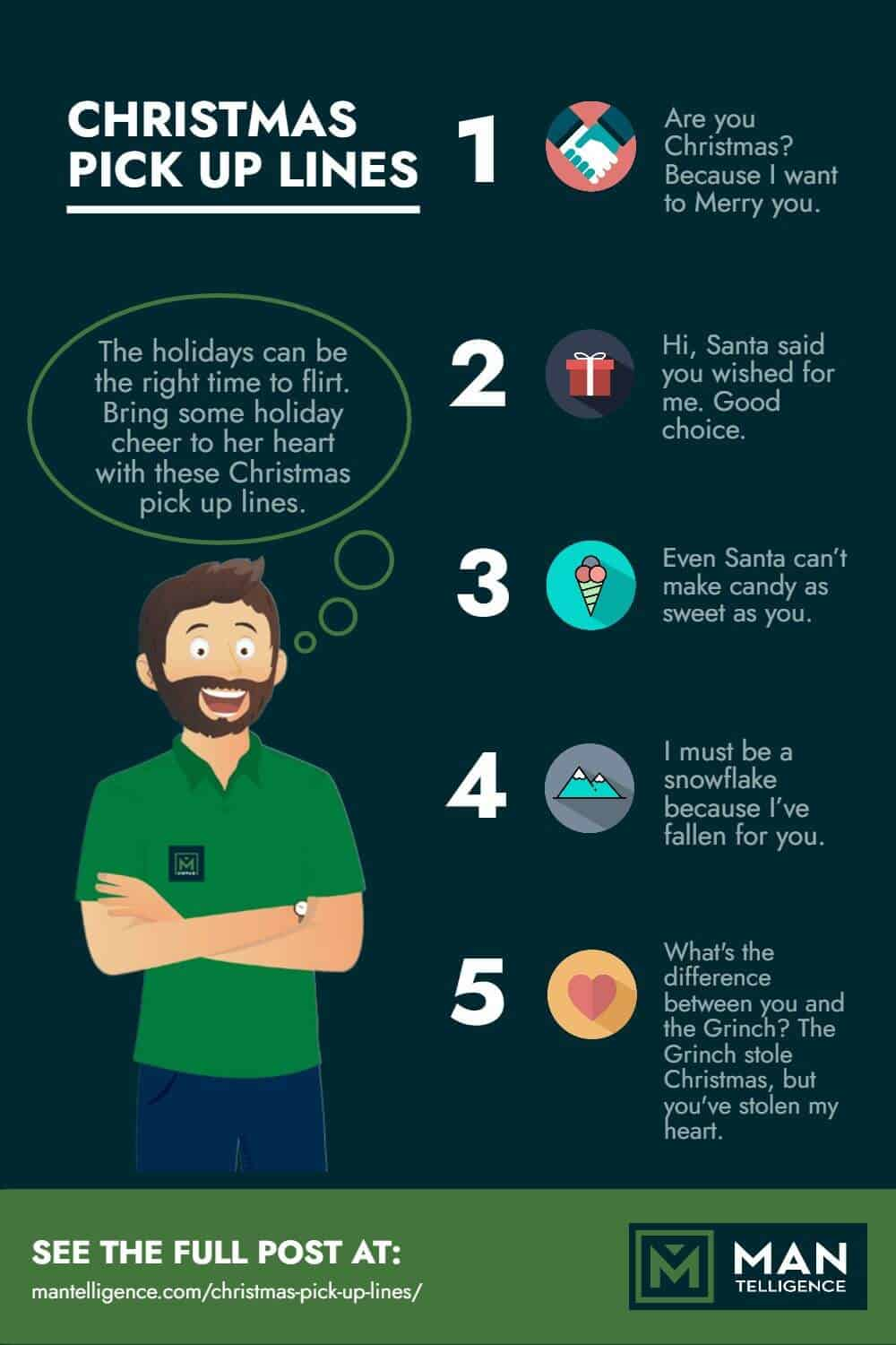 Christmas Pick Up Lines - infographic