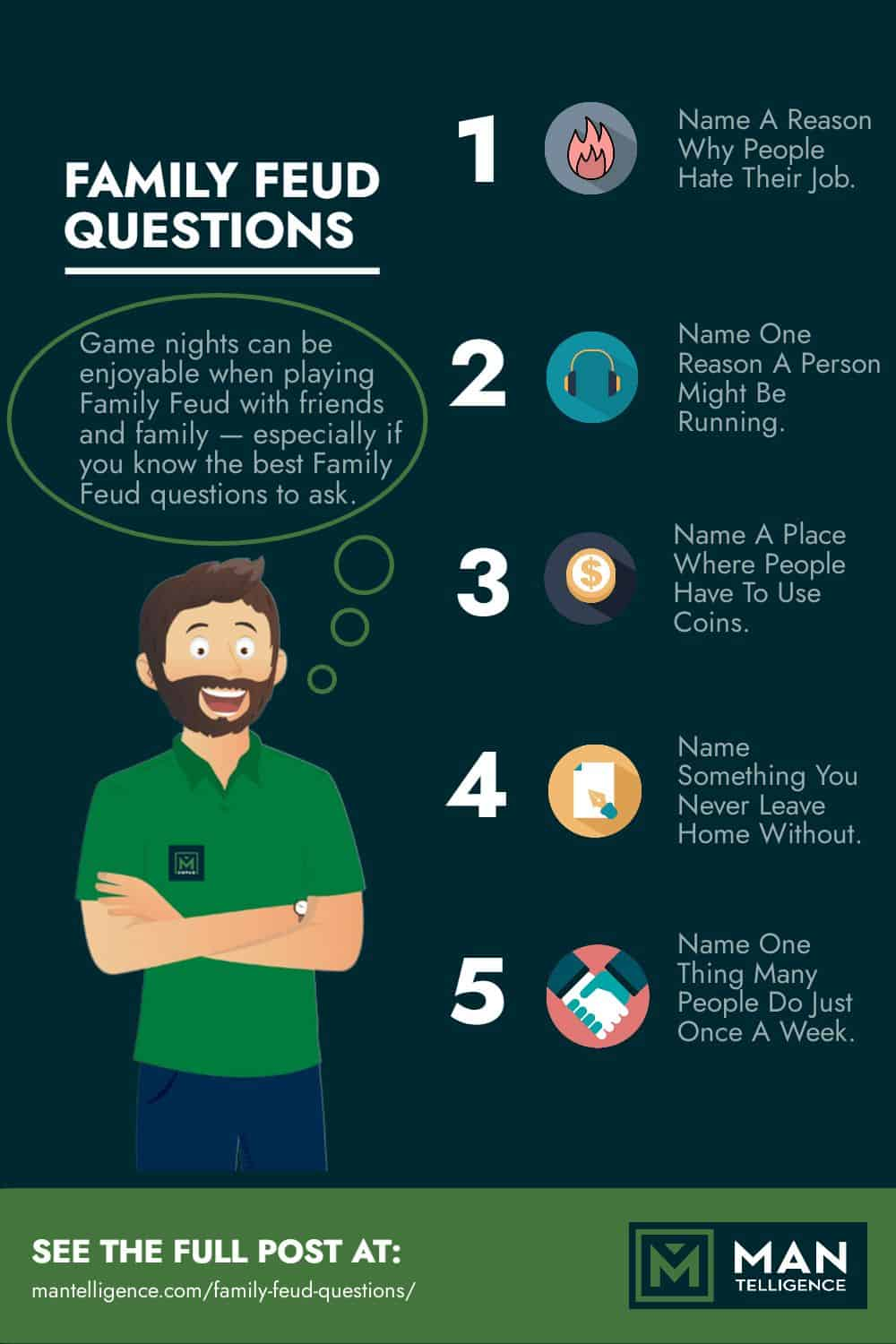 Infographic - family feud questions