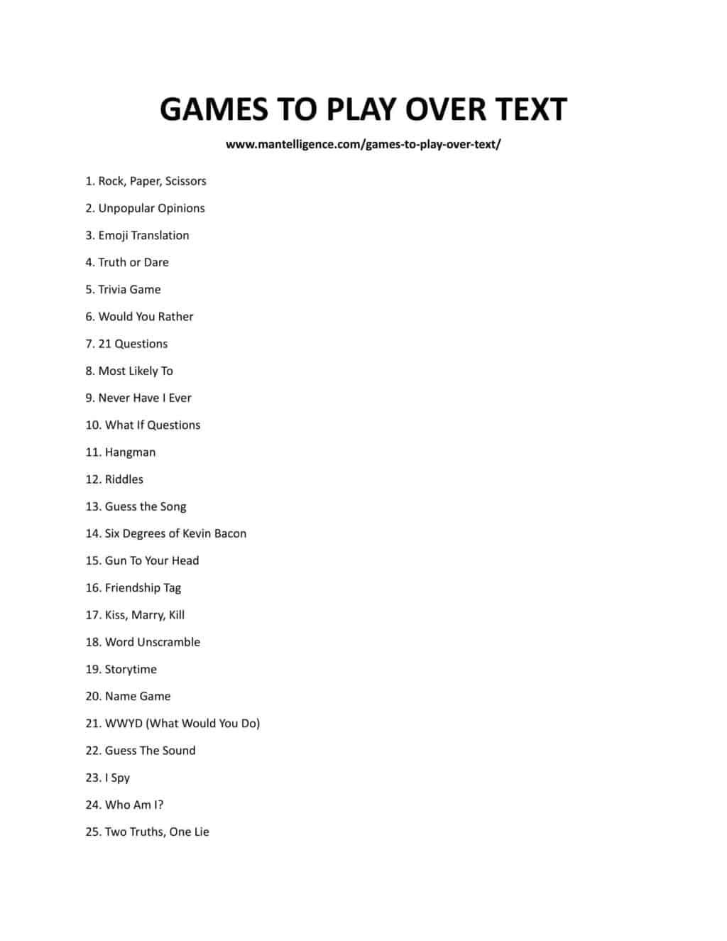 downloadable list