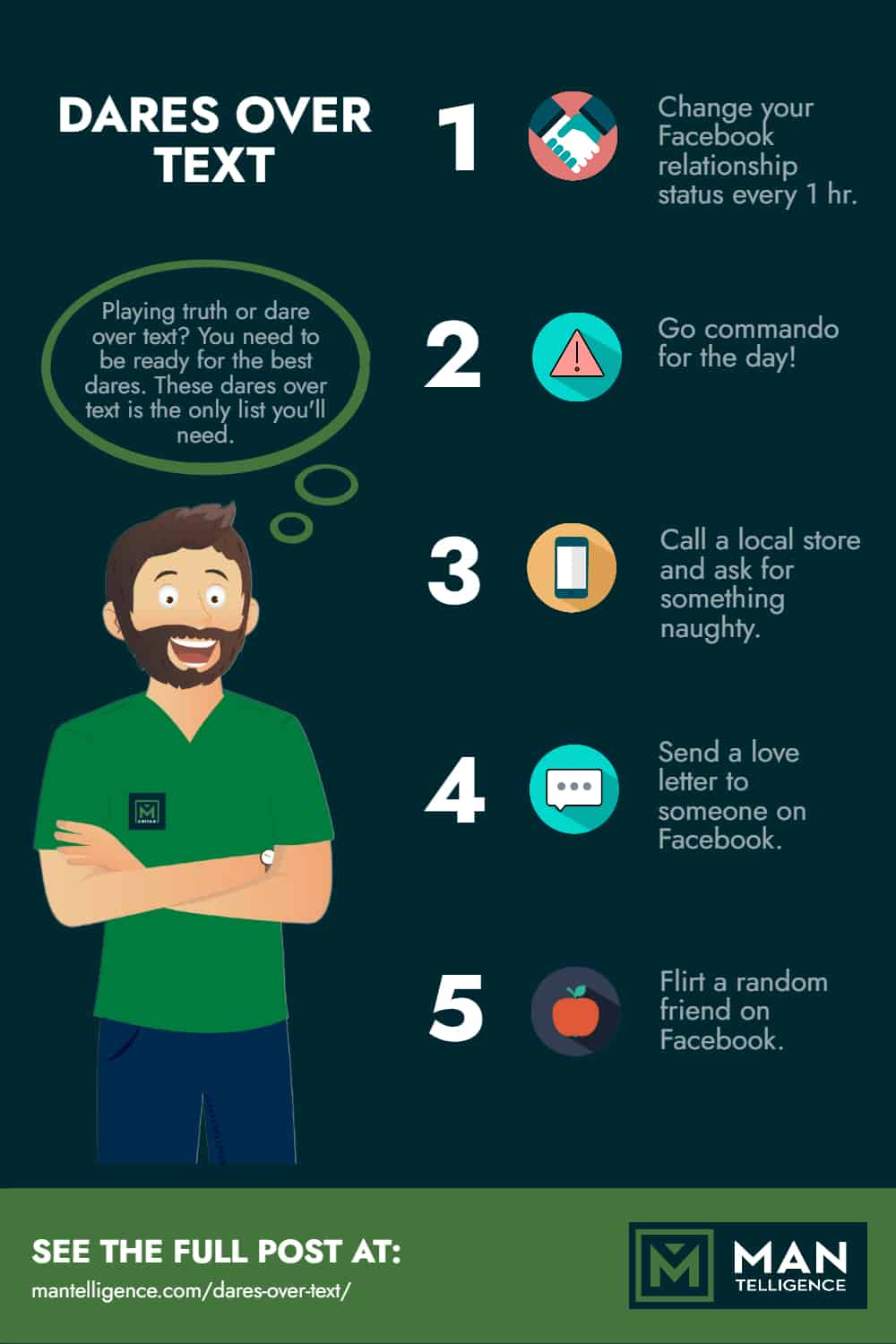 dare over text - infographic