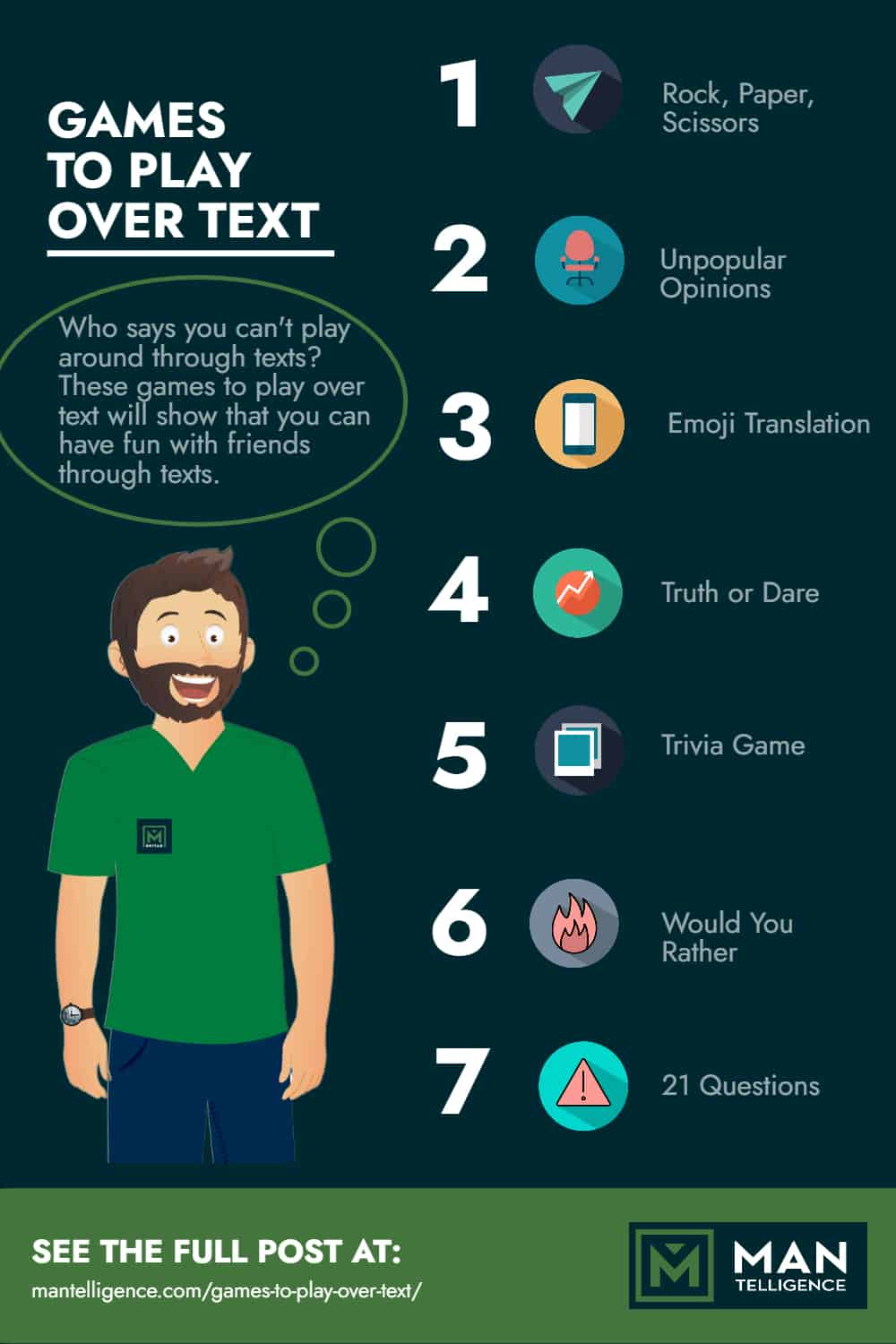 games to play over text - infographic