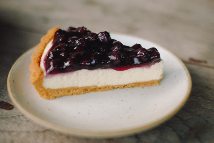 a piece of cheesecake on a plate