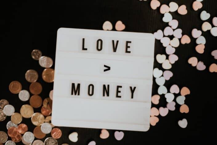 Love or money letter composition.
