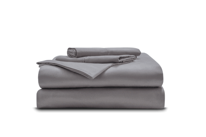 A pile of grey sheets - Miracle Sheets Review