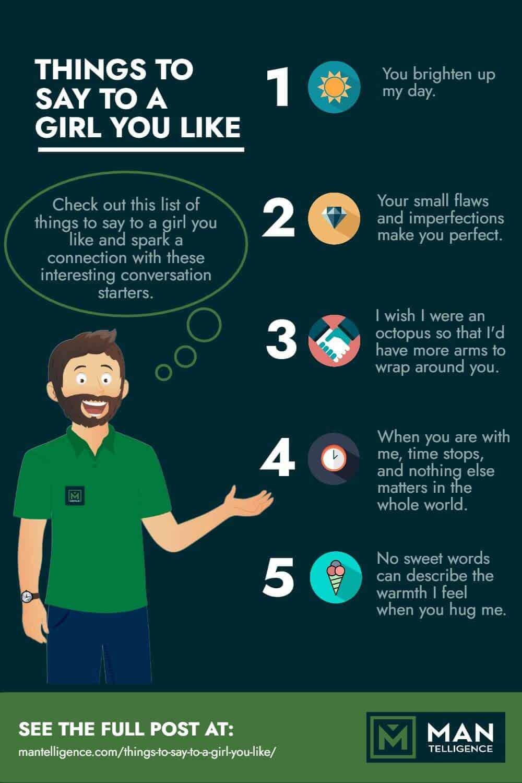 Что нужно сказать Девушка, которая вам нравится - инфографика