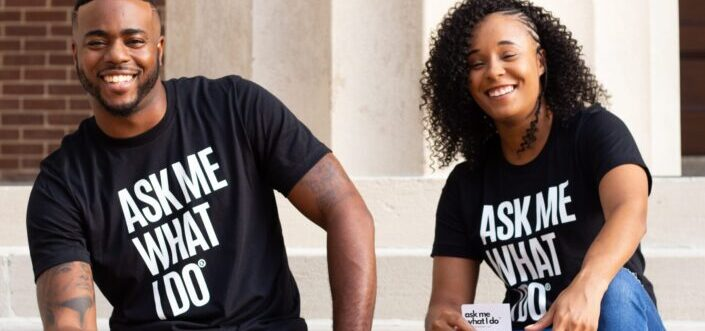 couple wearing couple shirt