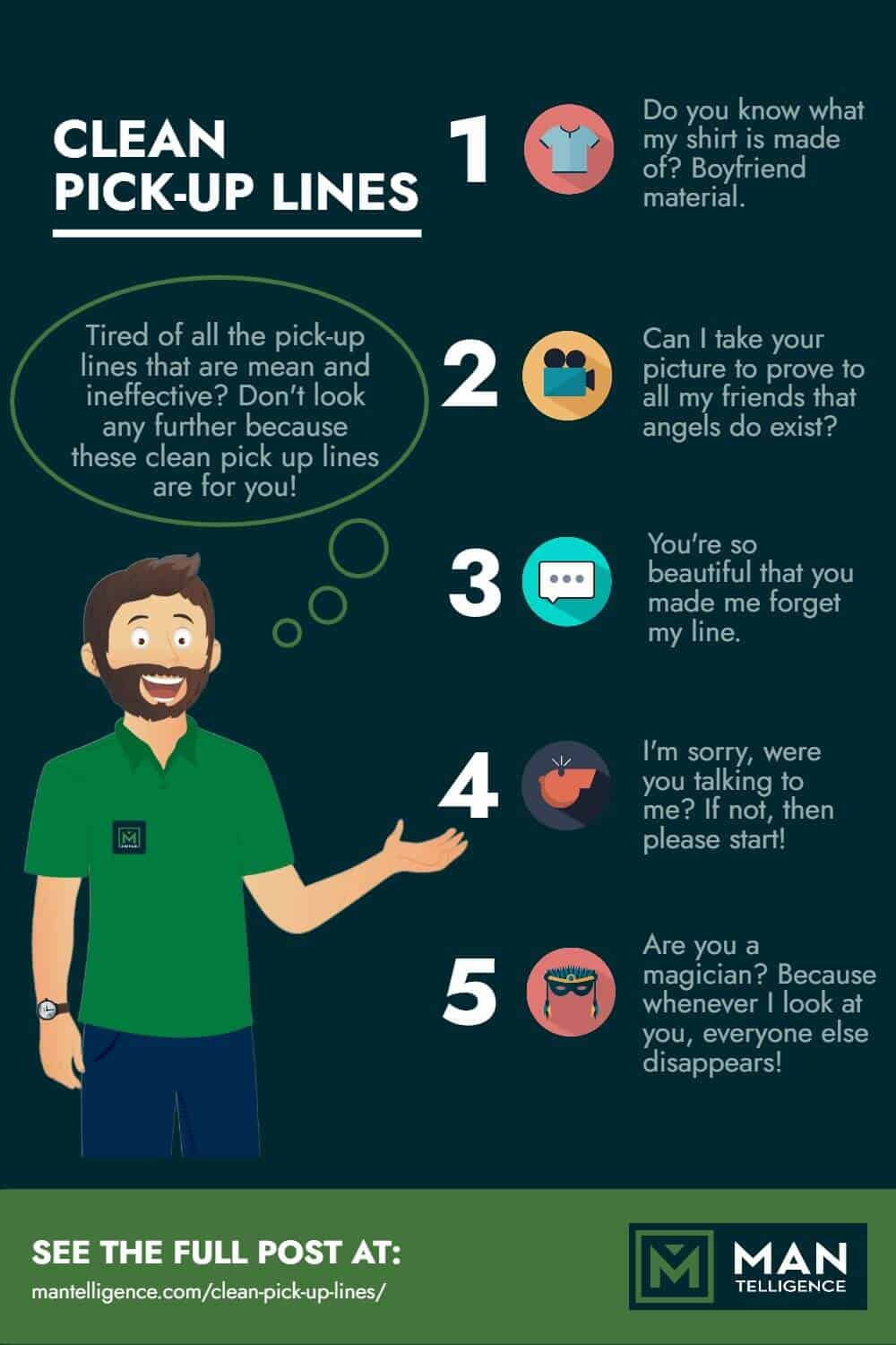 Clean Pick Up Lines - infographic