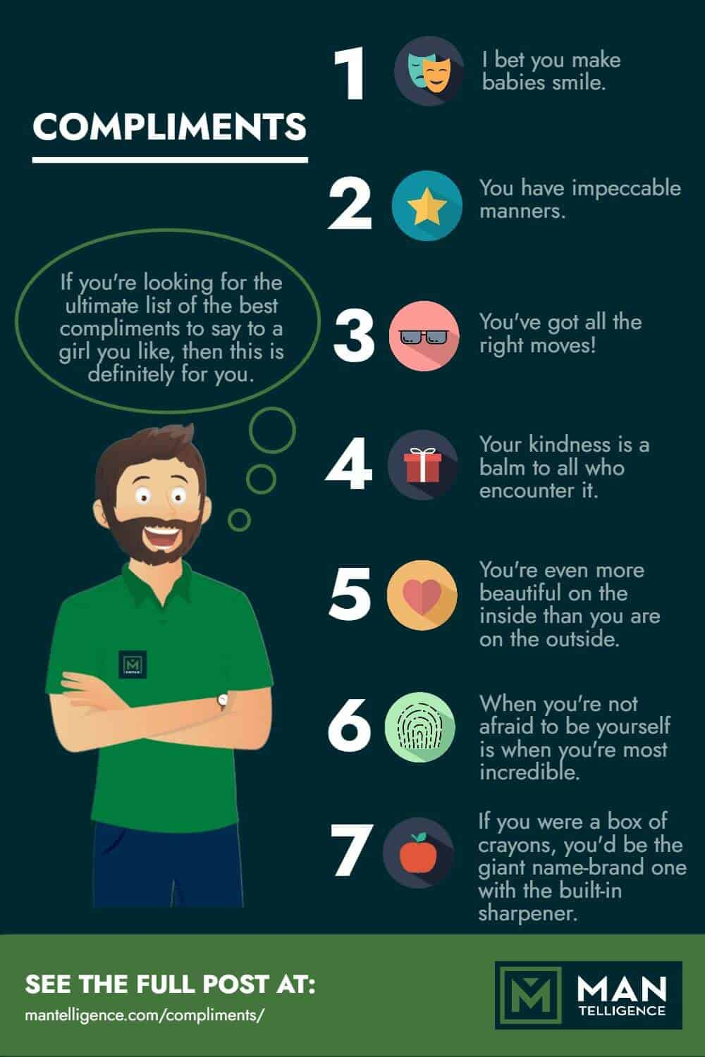 infographic about compliments
