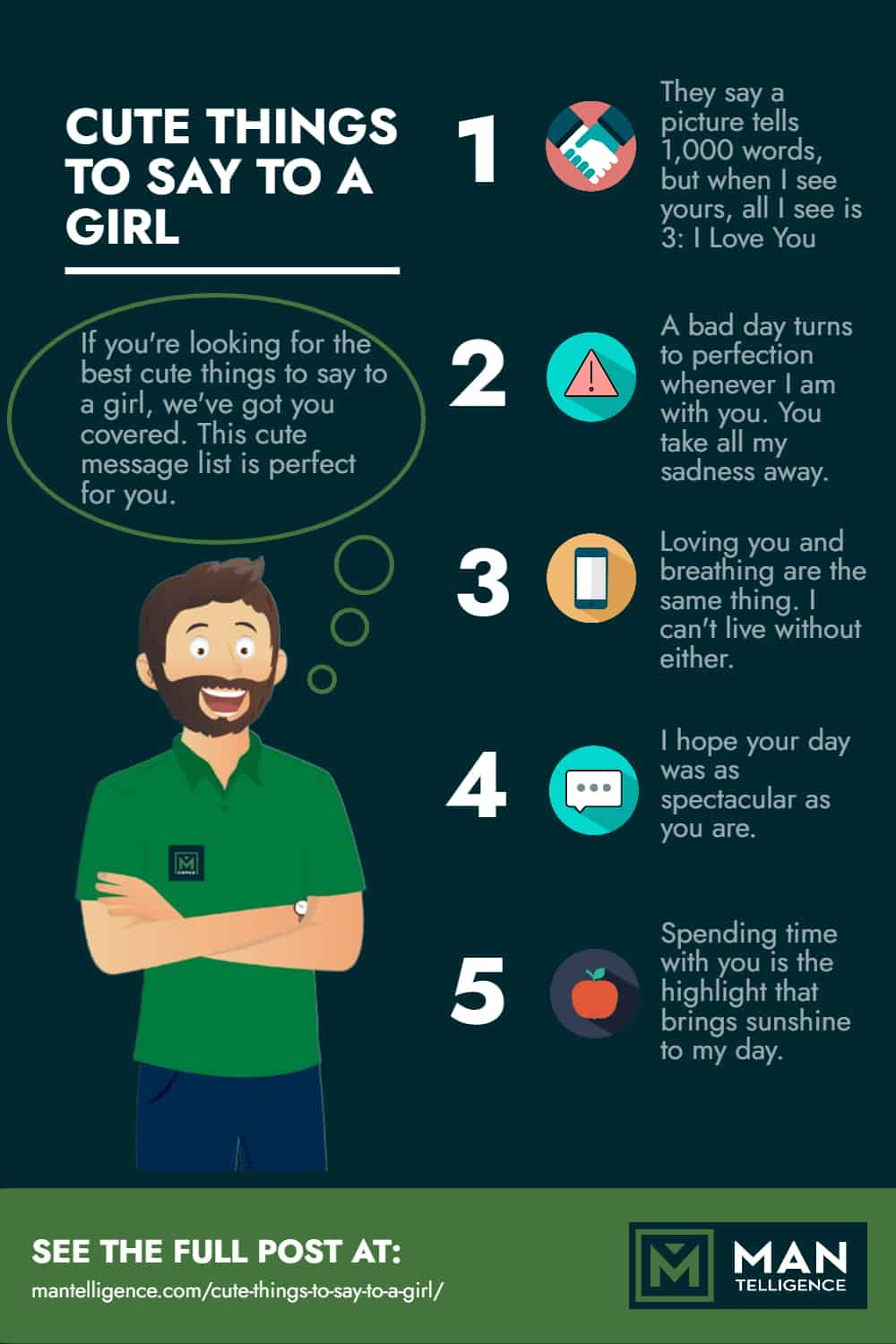 Cute things To Say To A Girl - Infographic