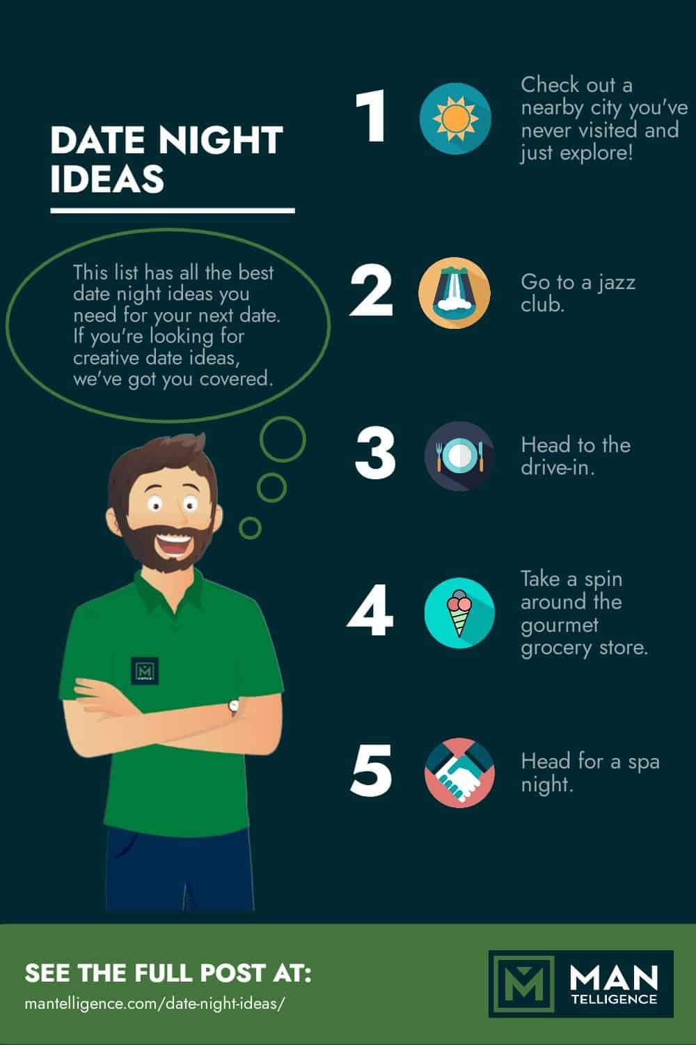 infographic about date night ideas